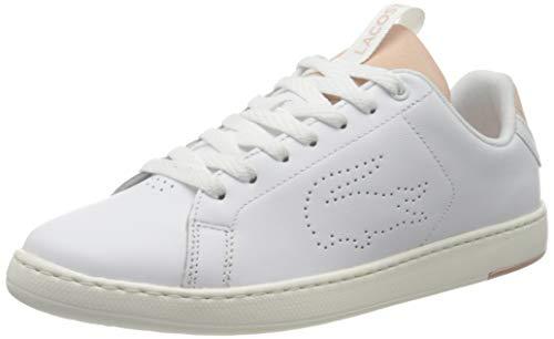 Lacoste 739SFA001283J_41, Zapatillas Mujer, Blanco, Rosa y Blanco EU
