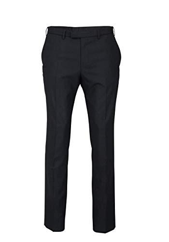 DIGEL Herrenhose NOAH mit Taschen und Bügelfalte schwarz Größe 54