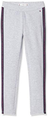 Tommy Hilfiger Mädchen Curved Hem Legging, Grau (Grey P01), One Size (Herstellergröße: 152)