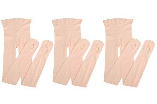 Dancing Kitty 3 Pairs Ultra Soft Convertible Ballet Dance Tights for Woman Ballet Pink 60 Denier 7D26