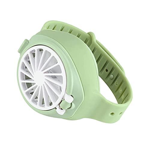 LLKK Mini ventilador creativo para reloj con carga USB, ajuste de tres engranajes, pequeño ventilador silencioso, regalo para estudiantes de niños (color gris)