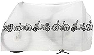 White Bike Bicycle Cycling Rain Dust Protector Cover Waterproof Protection Garage
