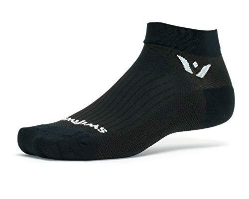 Swiftwick- PERFORMANCE ONE Golf & Running Socks (Black, Medium)