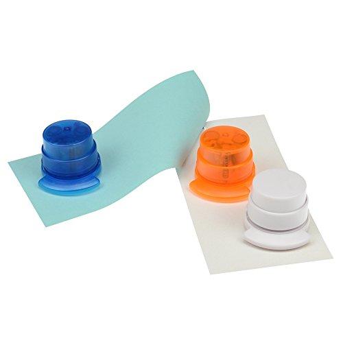 bind klammerloser Hefter ORIGAMI Papiertacker ohne Klammern Falttechnik blau 70522-1 - 4
