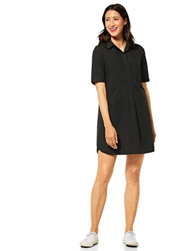 Street One Damen 142647 Blusenkleid Kleid, Black, 40