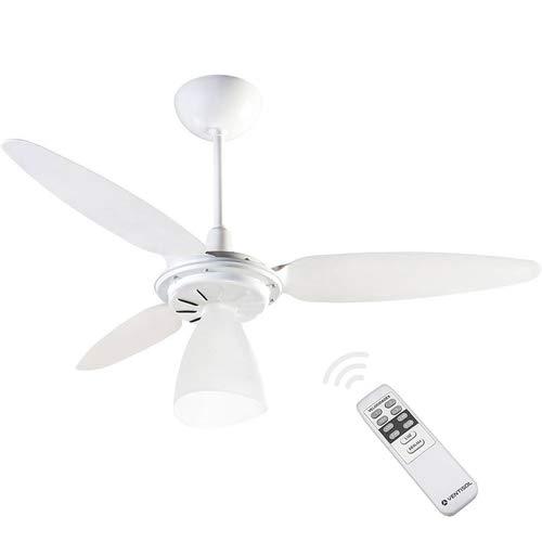 Ventilador de Teto Ventisol Wind Light com Controle Remoto 3 Pás Luminária Branco - 220V