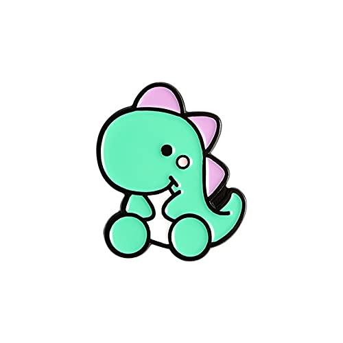 Pin de esmalte lindo animal insignia tiranosaurio Broches bolsa de ropa solapa pin moda joyería regalo niños