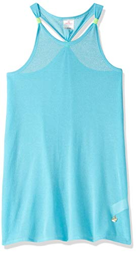 Skechers Girls' Big Swimsuit Coverup, Turquoise, 16