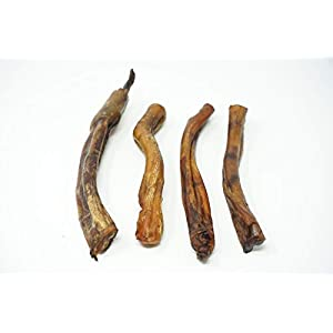 """Jack's Premium # 1 Texas Sized 6"""" Thick Bully Sticks for Dogs, 100% All Natural Dog Treats sourced and Made in USA – Freshly Cooked from Texas to Bring Amazing Smoky Flavor from 4pk avg. 8Oz."""