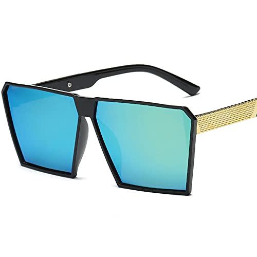 Gafas de Sol Hombre Mujere Retro Aire Libre Deportes Gafas de Sol para de Moda Protección UV400 de Gran Tamaño Golf Ciclismo Pesca Senderismo protección,Verde