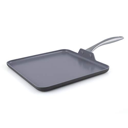 GreenPan Lima Healthy Ceramic Nonstick, Griddle Pan Pancake Pan, 11 , Gray
