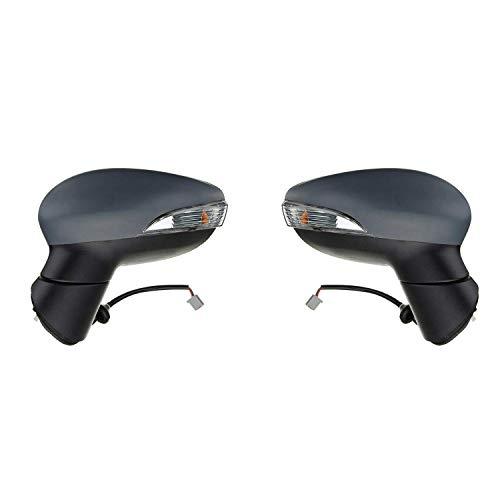 Nrpfell 1 Paar Elektrische Au?En Spiegel Beifahrer Seite für Fiesta MK7 2008-2012 Links/Rechts