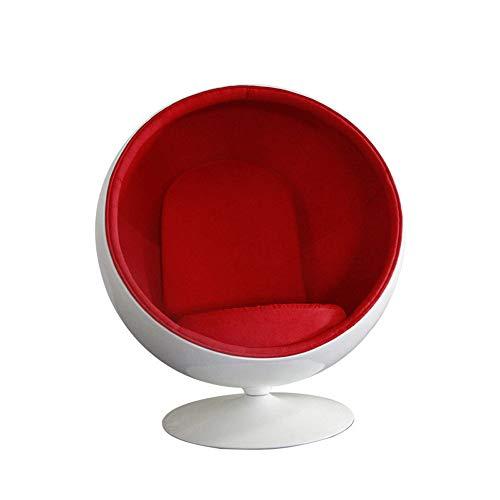 SMGPYHWYP Raum-Stuhl, Ei-Stuhl, Raum-Blasen-Stuhl, Studien-Balkon-Freizeit-Möbel, Glasstahl-Kugel-Stuhl