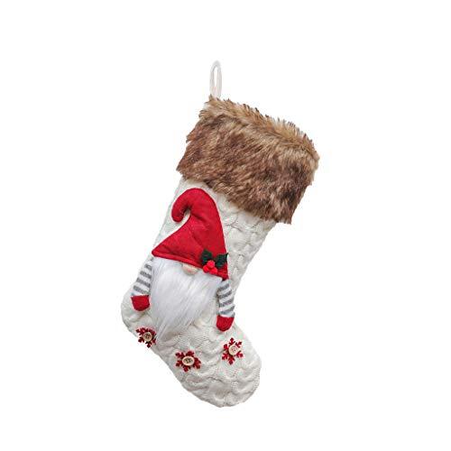 MRULIC WeihnachtsstrüMpfe Socken Zum BefüLlen Und AufhäNgen Nikolaus Stiefel Weihnachten Kamin Strumpf Deko Socke Weihnachtsbaum Deko(A2)