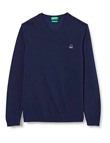 United Colors of Benetton (Z6ERJ) Jungen Maglia SCOLLO V M/L Pullover, Peacoat 252, XXL