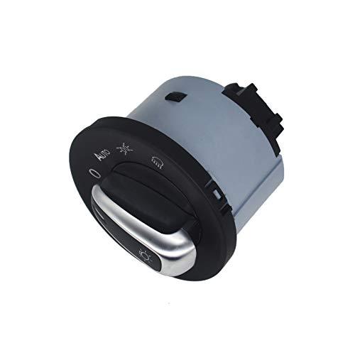 KASturbo 1Z0941431K Interruptor automático de encendido de luz de faro, Módulo de botón de interruptor de contro de lámpara para Octavia Eos Golf 2004-2013