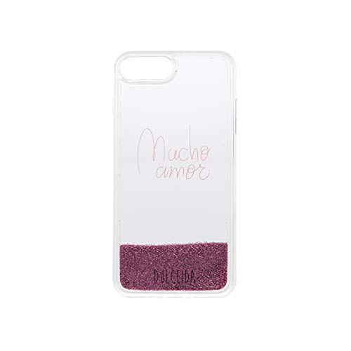 Dulceida Glitter - Carcasa para Apple iPhone 6/6S/7/8 Plus, Color Rosa