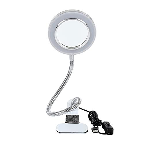 TIEHH Lámpara de Tatuaje LED, Lámpara cosmética, Lámpara de Mesa Multifuncional, Lámpara de Lupa Lámpara de Escritorio, Protección de los Ojos Lectura LED Escritorio Lam (Body Color : White)