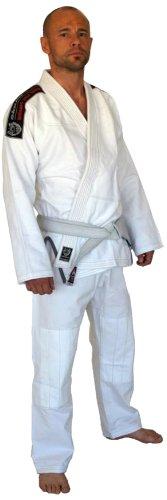 OKAMI Fightgear BJJ Anzug Warrior - Traje completo de artes marciales, color blanco, talla DE: A4