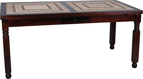 MiaMöbel Esstisch Mexico Möbel 170x90 cm Kolonialstil Massivholz Pinie Kolonialstil