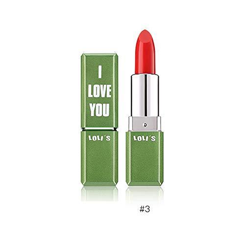 Xiton 1 PC Thé vert Essence Rouge à lèvres magie changeant de couleur Crème hydratante Baume Lèvres rafraîchie soin des lèvres lisses ingrédients naturels Rouge à lèvres (3 Rouge)