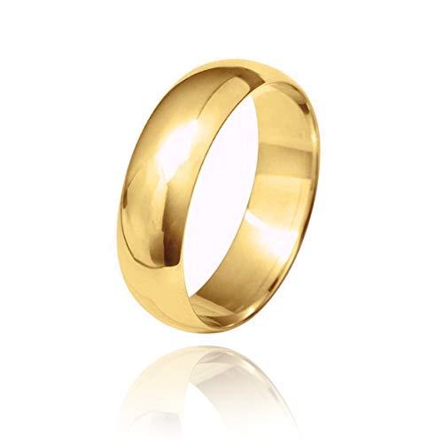 18ct Gold 6.0mmD-Shape Wedding Ring BD6.0 18Y-X
