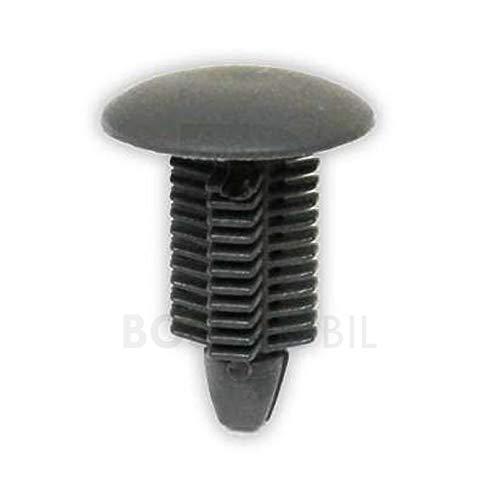 BOSSMOBIL - Tapones para tornillos de anclaje (218 mm, 18 x 21 x 9 mm), color gris oscuro