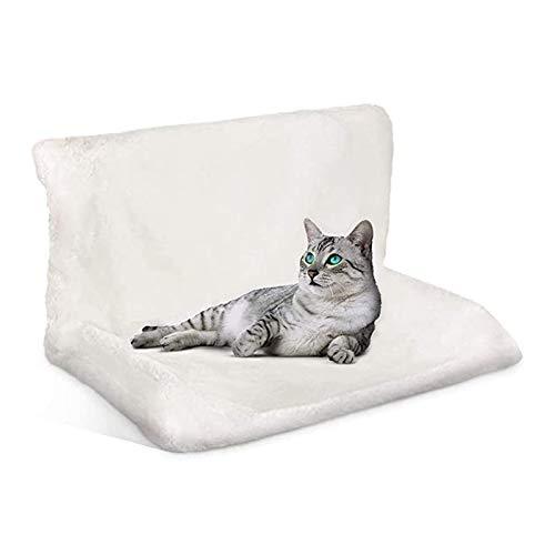 Dracol Katzen Fensterplatz Window Lounger Katzen Hängematte gemütliche Liegematte Katzenliege Sonnenbad Katzenbett für alle gängigen Heizkörper Weiß