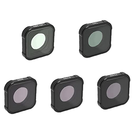 FeelMeet Filtro de Buceo Compatible con GoPro héroe 9 Negro Súper Traje de Buceo Vivienda realza los Colores para Diversos marítima Vídeo y Fotografía Condiciones MCUV CPL ND8 ND16 nd32