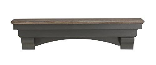 Pearl Mantels 499-72-27 Hadley Mantel Shelf, 72-Inch, Cottage Distressed