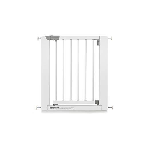 Geuther 2712 WE 2712 Grille de protection de porte en bois sans perçage à pincer Plage de réglage 73,5 à 81 cm Extensible Blanc 4,6 kg