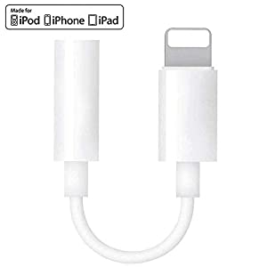 [Apple MFi Certified] Lightning to 3.5mm Headphone Jack Adapter, iPhone 3.5mm Earphone AUX Audio Stereo Connector Compatible for iPhone 11/11 Pro/XR/XS/X 8 7/iPad/iPod, Support Calling + Music Control