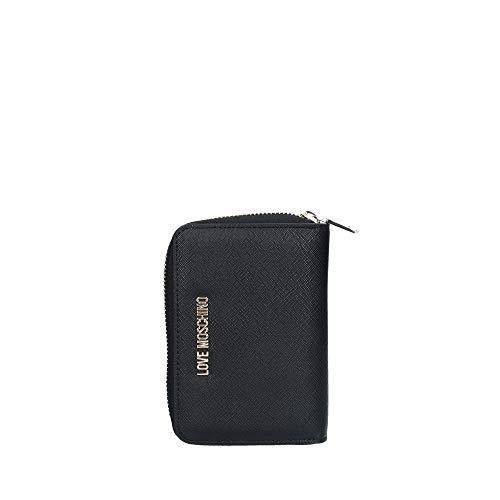 Love Moschino Moschino Donna piccola cerniera intorno al portafoglio Nero Unica Taglia