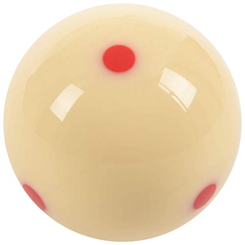 "DeoMeat Red Spot Cue Ball-Billard (2,25"" Resin)"