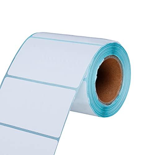 Etiquetas Blancas Adhesivas Etiquetas Adhesivas 500 Piezas 80 Mm * 60 Mm Etiquetas Para Congelador Etiquetas Fijas Etiqueta Térmica Etiquetas Autoadhesivas Para Direcciones En Rollo