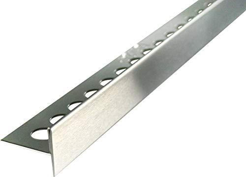 FUCHS Gefälleprofil Edelstahl V2A Gebürstet 150 cm Länge, 12,5 mm/32 mm Höhe, Rechts
