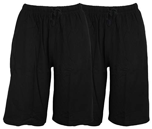 Tom Franks Doppelpack Baumwolljersey-Lounge-Shorts Gr. XX-Large, Schwarz