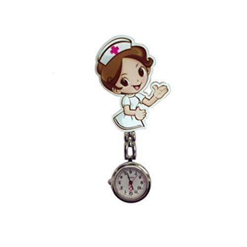 Zhou-YuXiang Linda Mesa de Enfermera Harajuku Cuidado médico Reloj de Pared Universal Reloj de Bolsillo en el Pecho