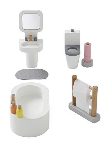 Vertbaudet Amis des Petits - Casa de muñecas, mueble de baño, color blanco, talla única
