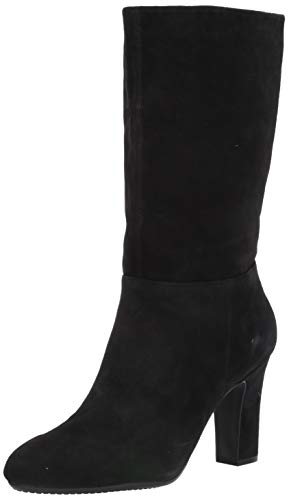 Aerosoles Women's Backstage Mid Calf Boot, Black Suede, 11 M US