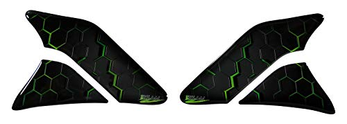 BIKE-label 800742VA Side Tank Pad Motorcycle Tank Protector Paint Protection Sticker Green