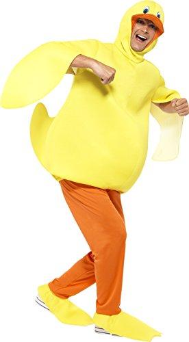 Smiffys 43390 - Ente Kostüm mit Body-Hose angebaute Kopfstück und Füße Covers