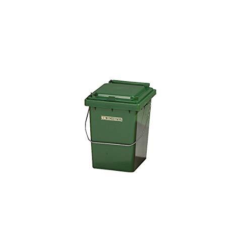 SSI Schäfer Wertstoffsammler Mülli Abfalleimer Mülleimer, Inhalt 10 l mit Deckel und Tragebügel, Made in Germany, Grün