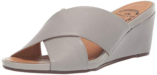 Driver Club USA Womens Leather Made in Brazil Beach Wedge Sandal Loafer, ash Grainy, 5 M US