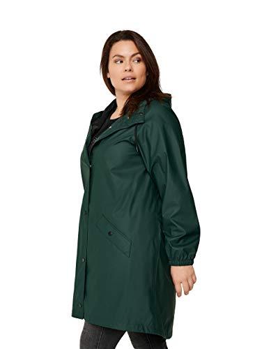 Zizzi Damen Große Größen Regenjacke mit Taschen, Knöpfen und Kapuze Gr 42-56