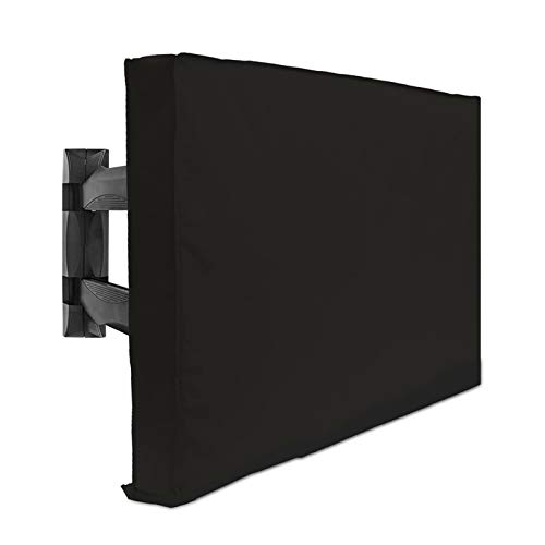 Outdoor TV Cover 55' - 58' - with Bottom Cover - 600D Water-Resistant and Dust-Resistant Material- Fits Your TV Better