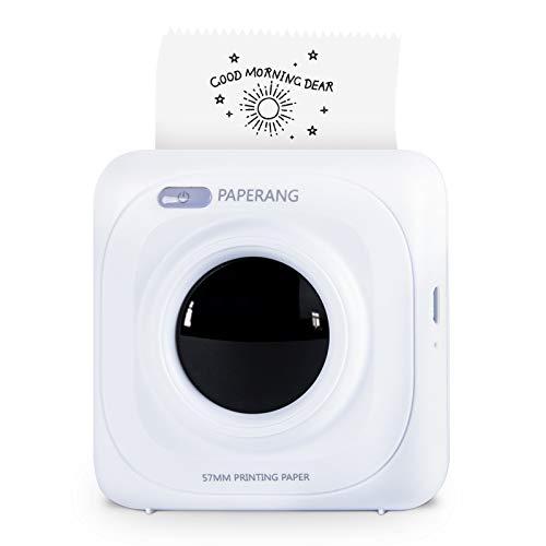 Selpic Mini stampante termica, stampante portatile/codice QR/foto con batteria ricaricabile da 1000 mAh, compatibile con Android e IOS