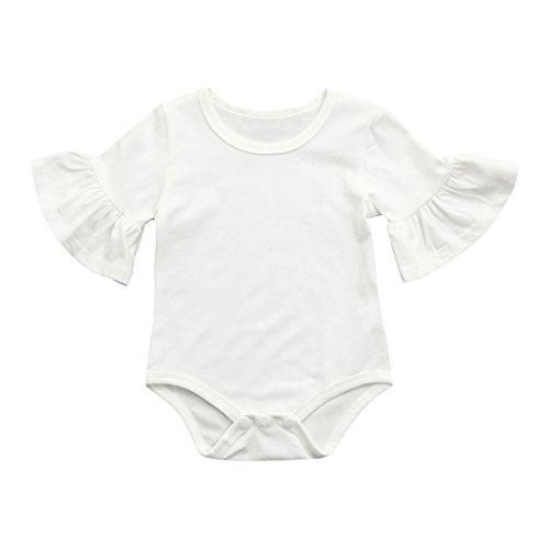 QinMM Body de Manga de Volantes de bebé Niña, Camisa Tops Mono de Verano de Manga Corta