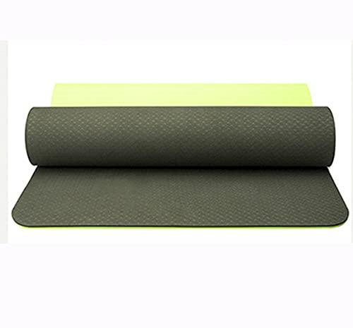 Estera De Yoga De Dos Colores TPE Mat De Fitness Adecuado para Yoga, Pilates, Danza Y Aeróbicos. (Color : C, Size : 183x61x0.6cm)