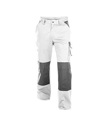 Dassy Boston Arbeitshose, zweifarbig, Kniepolstertaschen, Schwarz/Grau, Weiß, 50 (83 cm)